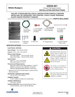 50D50-801 - Emerson Climate Technologies