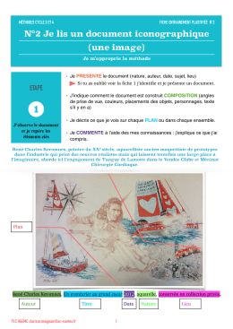 Je lis un document iconographique
