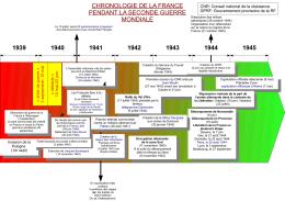 1939 1940 1941 1943 1945 chronologie de la france pendant la