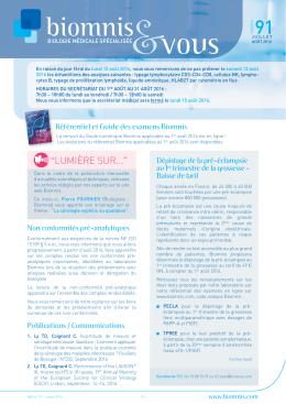 91-juillet-aout_2016_Biomnis_et_vous_Mise en page 1