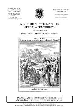 Télécharger le livret de cette messe au format PDF