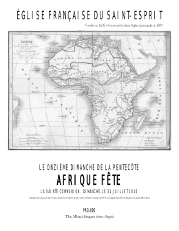 afrique fête - French Church du Saint