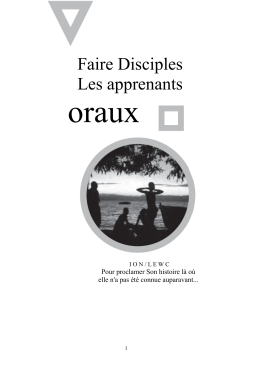 Faire Disciples Les apprenants - International Orality Network