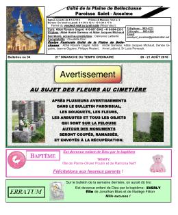 erratum - Municipalité de Saint