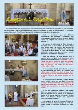 Ce lundi 15 août 2016, les paroissiens de la Communauté des 11