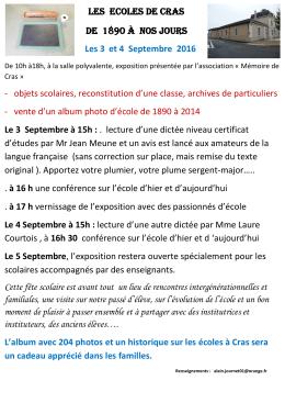 Voir le programme détaillé - Patrimoine des Pays de l`Ain