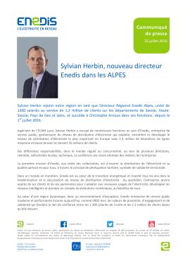 Sylvian Herbin, nouveau directeur Enedis dans les Alpes