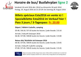 Horaire de bus - Camping Communal de Cudrefin