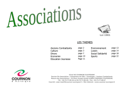 Liste des associations - Cournon