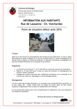 Ch. Vuichardaz Point de situation début août 2016