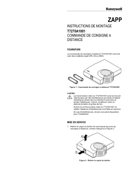 INSTRUCTIONS DE MONTAGE T7270A1001 COMMANDE DE