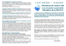 Informations sur les conditions de circulation - Praz-sur-Arly
