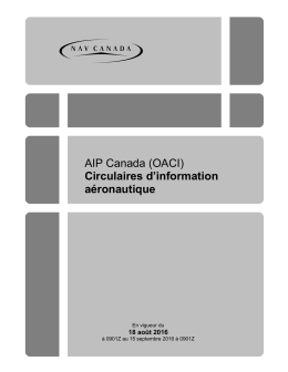 AIP Canada (OACI) Circulaires d`information