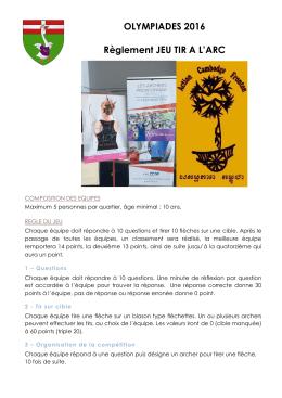 olympiades 2016 - Mairie de Fronton