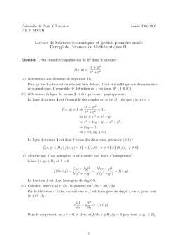 Corrigé de l`examen de mathématiques de juin 2007