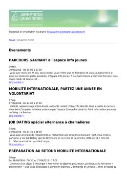 Version PDF - Orientation Auvergne