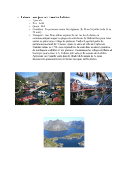 excursions Majestueuse nature Norvegienne