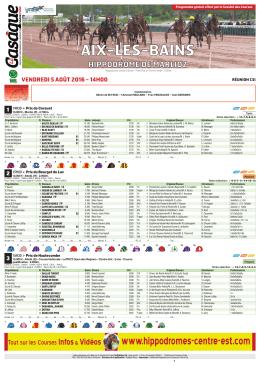 Programme - Fédération Centre-Est