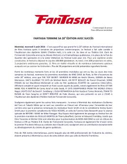 Communiqué Bilan Fantasia 2016