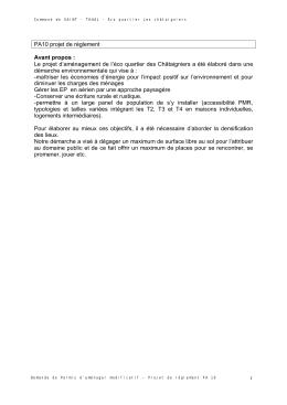 Règlement - Saint Thual