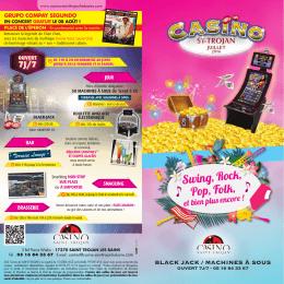Téléchargez le pdf des animations - Casino de Saint Trojan les bains