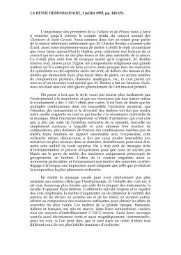 LA REVUE HEBDOMADAIRE, 1 juillet 1893, pp. 142-151. L