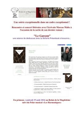 """Le Garçon"" - Relais de la Magdeleine"