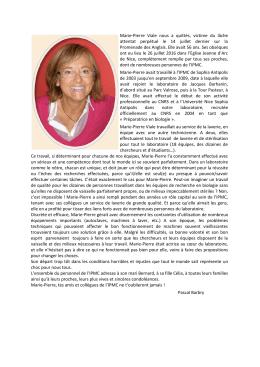 Marie-Pierre Viale nous a quittés, victime du lâche - IPMC