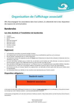 Organisation de l`affichage associatif - Mairie de Clohars