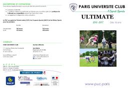 ultimate - Paris Université Club