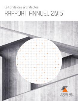Consulter le rapport annuel pour l`année 2015
