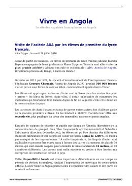 PDF - Vivre en Angola