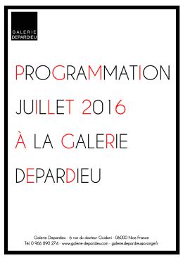 programme - Galerie Depardieu
