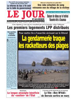 Lundi 01 08 16 - Le Jour d`Algérie