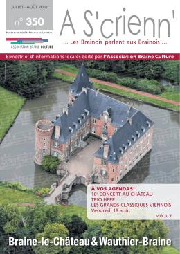 A S`crienn 350 Juillet - Août 2016 - Braine-le