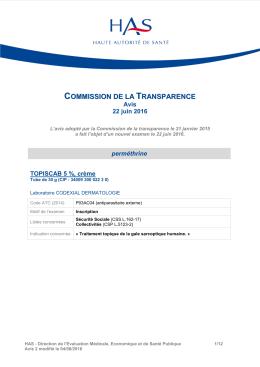 commission de la transparence