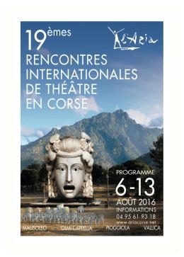 19èmes Rencontres Internationales Artistiques 2016