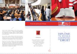 diplôme - Ecole Européenne de Droit