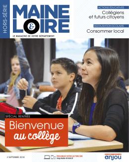 Bienvenue - Maine-et-Loire, le magazine de votre département