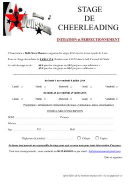 stage de cheerleading