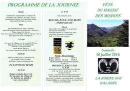 Fête du Massif des Monges du samedi 30 juillet 2016