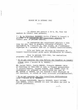 PV de séance - Conseil constitutionnel