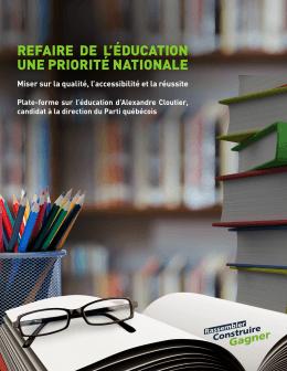 Télécharger la plate-forme en éducation d`Alexandre Cloutier