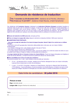Formulaire demande de résidence traduction [pdf - 565,6