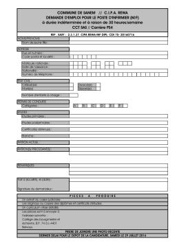 COMMUNE DE SANEM /// C.I.P.A. REWA DEMANDE D`EMPLOI