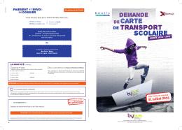 Télécharger le formulaire de demande de carte de transport scolaire