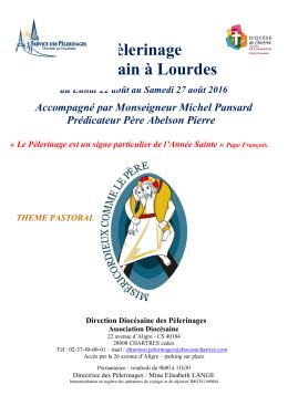 Programme Lourdes août 2016