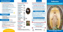 Découvrez le programme 2016-2017 - Sanctuaire Notre