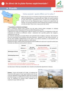 semaine du 2 août 2016 - Chambre d`agriculture de la Somme