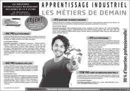 liste des places d`apprentissage disponibles
